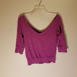 Express off the shoulder purple top